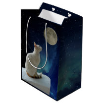Cat and Moon Medium Gift Bag
