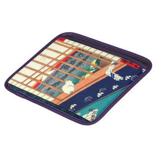 Cat and Mount Fuji 1857 iPad Sleeve