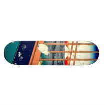 Cat and Mount Fuji 1857 Skateboard Deck