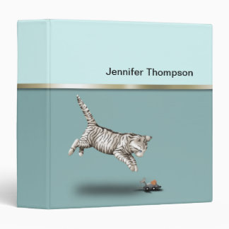 Cat and Mouse cartoon 3 Ring Binder
