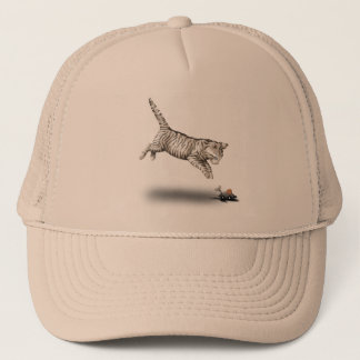 Cat and Mouse cartoon Trucker Hat