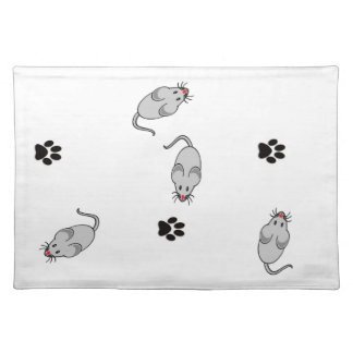Cat and Mouse Cloth Place Mat