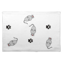 Cat and Mouse Cloth Placemat