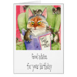 Cat and mouse funny birthday greeting cards