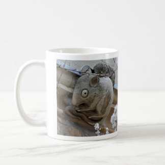 Cat-and-mouse gargoyles mug