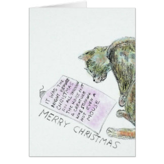 Cat and Mouse Holiday Card