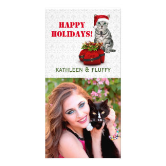 Cat and Mouse Holiday Pet Lovers Card