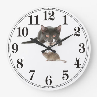 Cat and Mouse Image for Acrylic Wall Clock