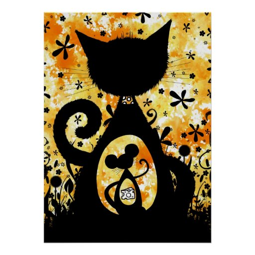 Cat and Mouse - poster print