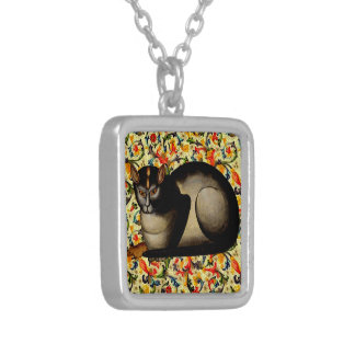 CAT AND MOUSE SILVER PLATED NECKLACE