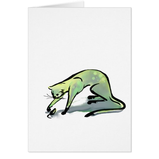 Cat and Mouse White Card