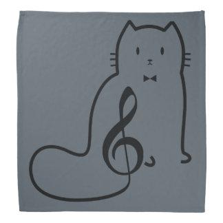 CAT AND MUSIC NOTE BANDANA