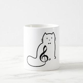 CAT AND MUSIC NOTE COFFEE MUG