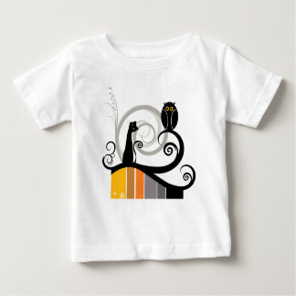Cat and Owl Baby T-Shirt