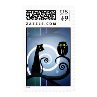 Cat and Owl Stamps