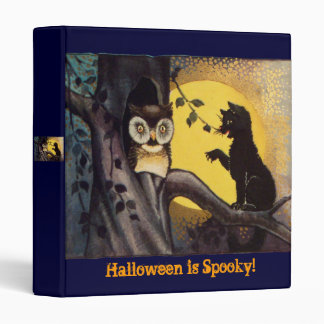 Cat and Owl Vintage Halloween Binder