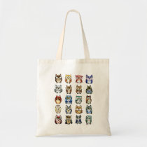 Cat and Owls Bag
