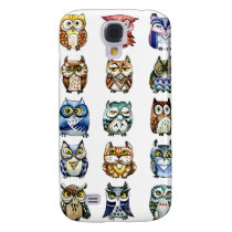 Cat and Owls rainbow Samsung S4 Case