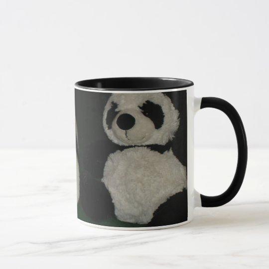 Cat and Panda Friends Mug