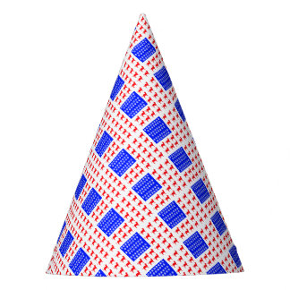 Cat and Paw Flag Party Hat