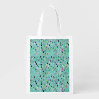 Cat and Paws Pattern Grocery Bag
