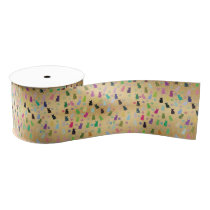 Cat and Paws Pattern Grosgrain Ribbon