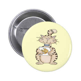 Cat and Pet Fish 2 Inch Round Button