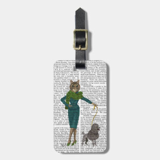 Cat and Poodle Luggage Tag
