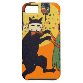 Cat And Pumpkin Masquerade iPhone SE/5/5s Case