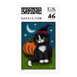 Cat and Pumpkin Postage
