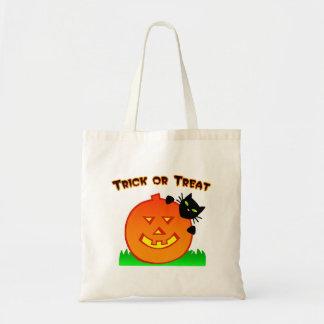 Cat and Pumpkin Trick or Treat Bag