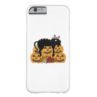Cat and Pumpkins Barely There iPhone 6 Case