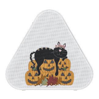 Cat and Pumpkins Bluetooth Speaker