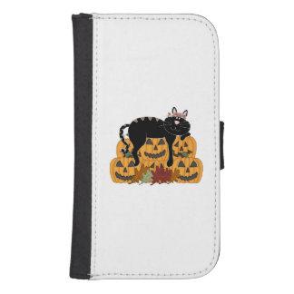 Cat and Pumpkins Phone Wallet