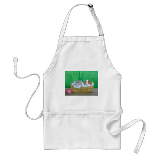 cat and puppy adult apron