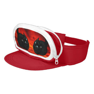 Cat and Red Sky Visor