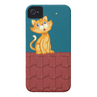 Cat and roof iPhone 4 Case-Mate case