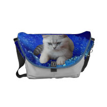 Cat and Rose Small Messenger Bag