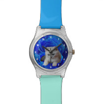 Cat and Rose Wrist Watch