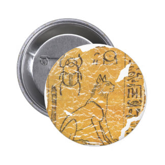 cat and scarab 2 inch round button