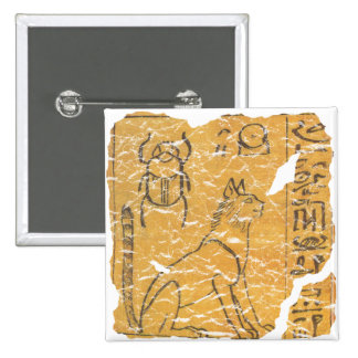 cat and scarab 2 inch square button