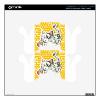 Cat and string PS3 controller decal