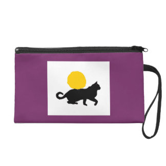 Cat and Sun Cosmetic Bag Violet