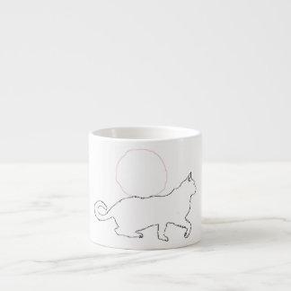 Cat and Sun Espresso Mug 6 Oz Ceramic Espresso Cup