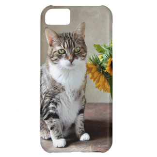 Cat and Sunflowers iPhone 5C Covers
