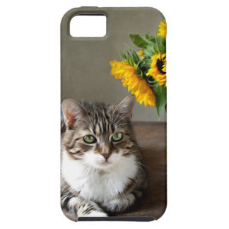 Cat and Sunflowers iPhone 5 Case
