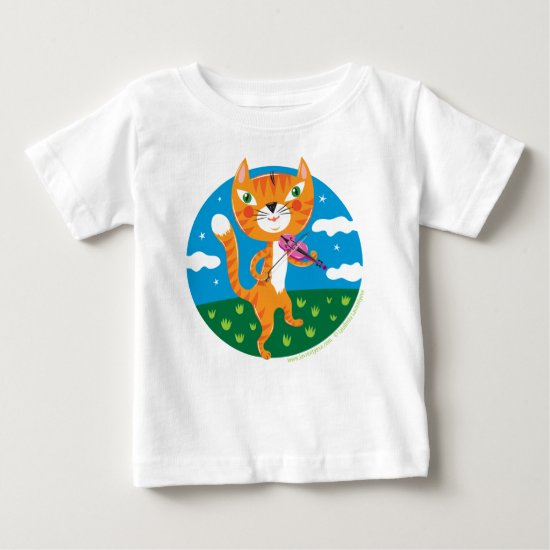 """Cat and the Fiddle"" Baby T-Shirt"