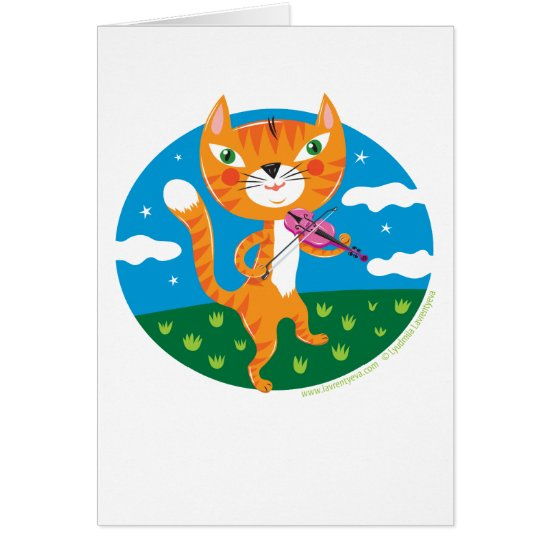 """Cat and the Fiddle"" Card"
