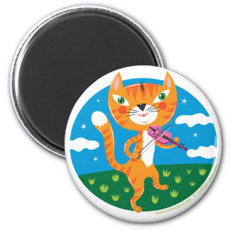 """Cat and the Fiddle"" Magnets"