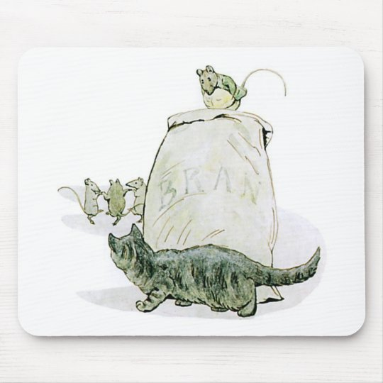 Cat and the Mice Artwork Mouse Pad